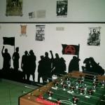 Der Saal mit Kicker
