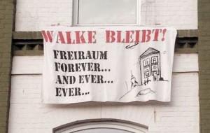Walke bleibt-Transparent